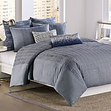 DKNY® City Rhythm Duvet Cover in Cobolt