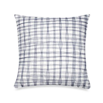 DKNY City Rhythm Plaid Square Toss Pillow in Cobalt
