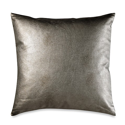 Nicole Miller Home Decorative Pillow : Nicole Miller Metallic Circles Faux-Leather Square Toss Pillow - Bed Bath & Beyond