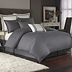 Nicole Miller® Metropolitan Twin Duvet Cover in Charcoal