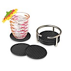 Euro 6-Piece Coasters Set with Holder