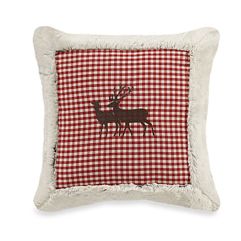 Reindeer Red Toss Pillow