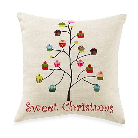 Sweet Christmas Cream/Multi-Colored Toss Pillow