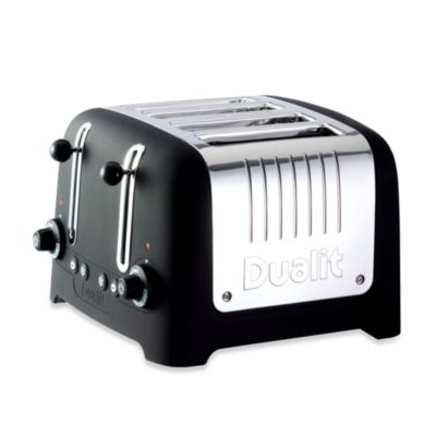 Dualit® Lite Chunky 4-Slice Toaster in Black