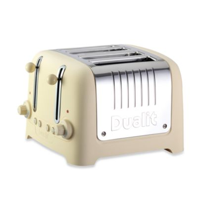 Dualit Lite Chunky 4-Slice Toaster in Cream