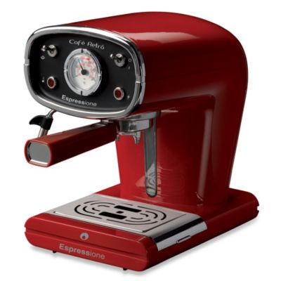 Espressione Red Cafe Retro Espresso Machine