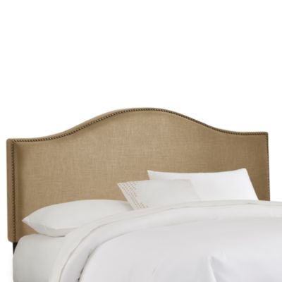 Skyline Furniture Nail Button Arched California King Headboard in Sandstone