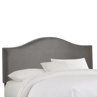 Skyline Furniture Nail Button Arched California King Headboard in Grey