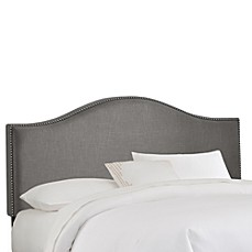 Skyline Nail Button Arched Headboard in Grey