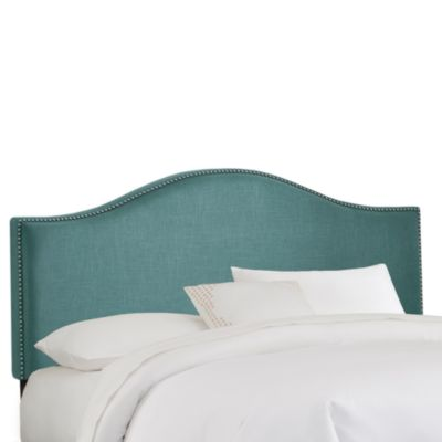 Skyline Nail Button Arched Headboard in Laguna