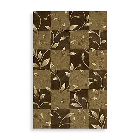 Nourison Contours 5-Foot x 7-Foot 6-Inch Vine Rug in Brown