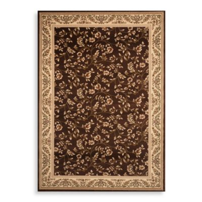 7 4 Brown Floral World Rug