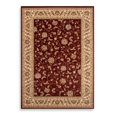 World Gallery Elite Isphahan Rug in Red