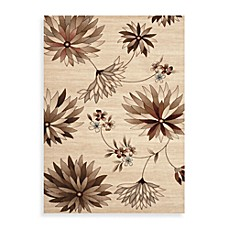 Elite Floral Rug in Beige