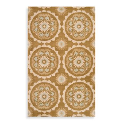 Surya B. Smith Oyster Grey Mosaic Hand-Tufted 2-Foot 6-Inch x 8-Foot Area Rug