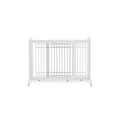 Richell Freestanding Origami Small Pet Gate in White