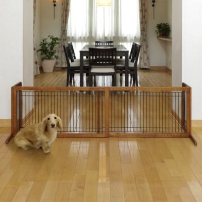 Richell Freestanding Large Matte Pet Gate in Autumn