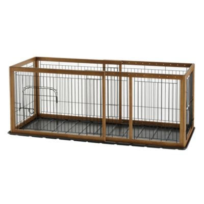Richell Expandable Matte Medium Pet Pen with Floor Tray in Autumn