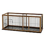Richell Expandable Matte Small Pet Pen with Floor Tray in Autumn