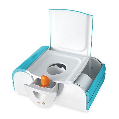 Boon Potty Bench Training Toilet with Side Storage in Blue
