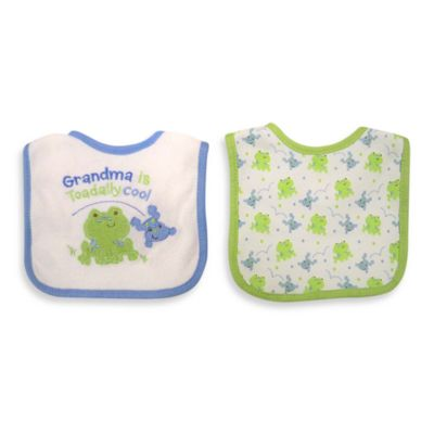 "Neat Solutions® ""Grandma is Cool"" 2-Pack Boy Bib Set"