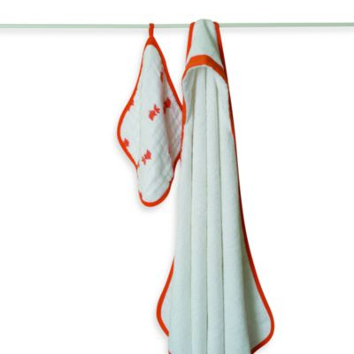 aden + anais® Hooded Towel & Washcloth Set - Splish Splash