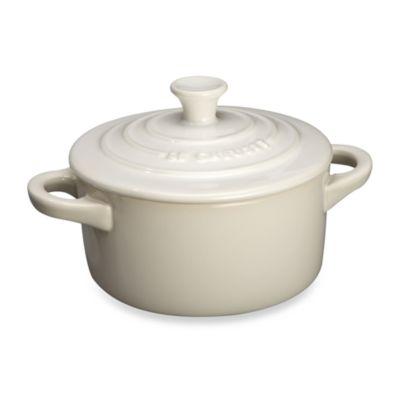 Le Creuset® Mini Round Stoneware Cocotte in White