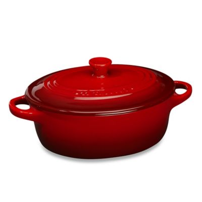 Le Creuset®12 oz. Mini Oval Stoneware Cocotte in Cherry
