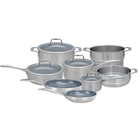 Zwilling J.A. Henckels Spirit Ceramic Coated Nonstick 12-Piece Cookware Set and Open Stock