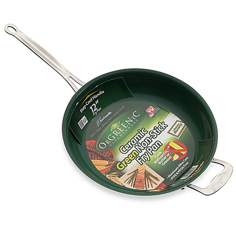 Orgreenic 12 Inch Fry Pan With Helper Handle Bed Bath