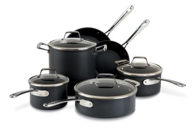 All-Clad B3 Hard Anodized Bonded Induction Aluminum 10-Piece Cookware Set