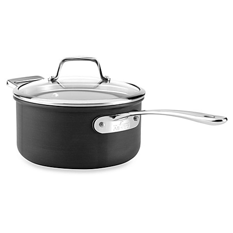 All-Clad B3 Hard Anodized Bonded Induction Aluminum 3-Quart Covered Saucepan