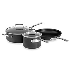 All-Clad B3 Hard Anodized Bonded Induction Aluminum 5-Piece Cookware Set and Open Stock