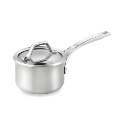 Calphalon® AccuCore™ Stainless Steel 1-Quart Covered Sauce Pan