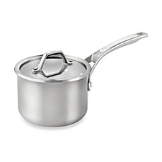 Calphalon® AccuCore™ Stainless Steel 2-Quart Covered Sauce Pan