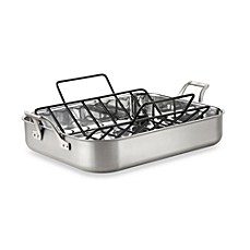 Calphalon® AccuCore™ Stainless Steel 16-Inch Roaster & Rack