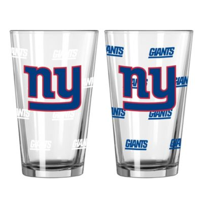 NFL New York Giants Color Changing Pint Glasses (Set of 2)