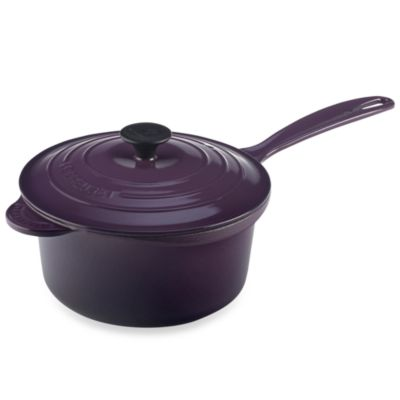 Le Creuset® 2.75-Quart Iron Handle Precision Pour Saucepan in Cassis