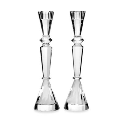 Godinger Essex 11.5-Inch Crystal Candlesticks (Set of 2)