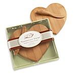 Kate Aspen® Tastefully Yours Heart-Shaped Bamboo Cheese Board