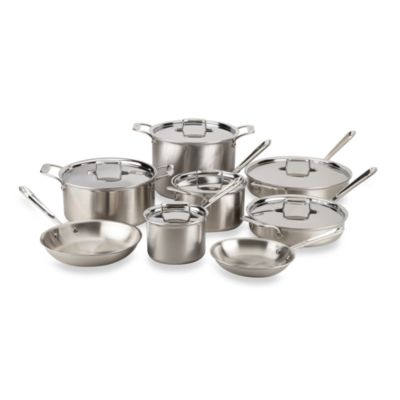 All-Clad d5 Brushed Stainless Steel 14-Piece Cookware Set