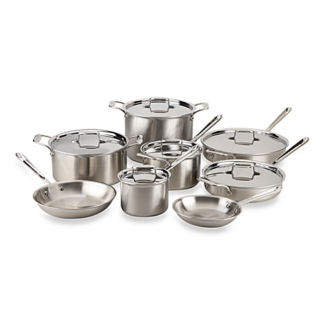 Buy All Clad D5 Brushed Stainless Steel 14 Piece Cookware