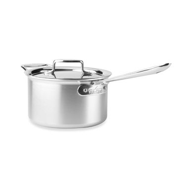 All-Clad d5 Brushed Stainless Steel 4-Quart Covered Saucepan