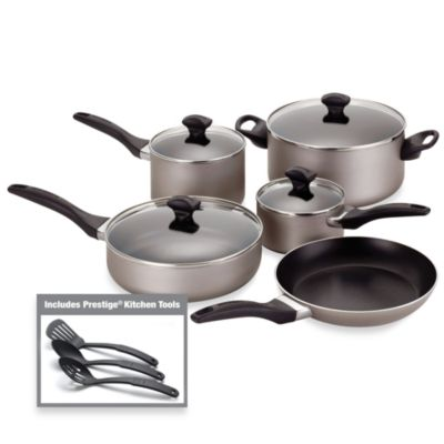 Farberware® Aluminum Nonstick 12-Piece Cookware Set in Champagne