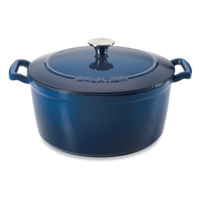 Sabatier® 7-Quart Porcelain Cast Iron Dutch Oven in Blue
