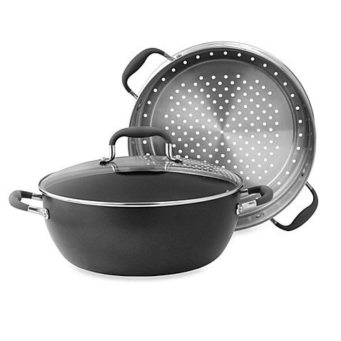 Anolon® Advanced Hard Anodized Nonstick 7.5 qt. Covered Casserole with Steamer Insert