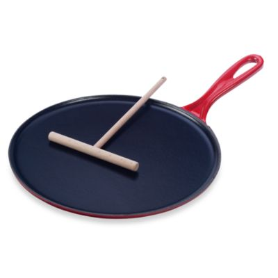 Le Creuset® 10.75-Inch Cast Iron Crepe Pan in Cherry