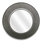 24-Inch Circle Mirror in Pewter Finish