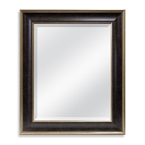 22 x 26-Inch Mirror in Marble Bronze Bead Finish