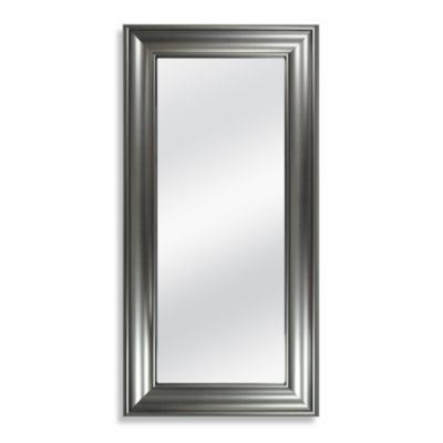 8 x 20-Inch Accent Mirror in Brushed Nickel Finish